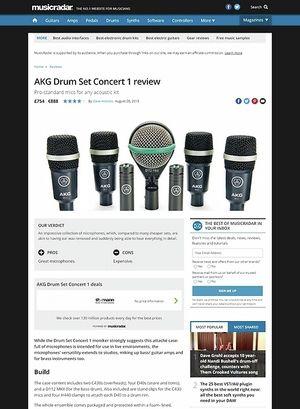 MusicRadar.com AKG Drum Set Concert 1