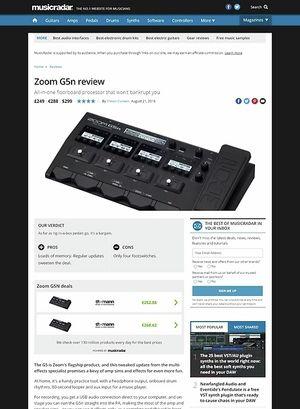 MusicRadar.com Zoom G5n
