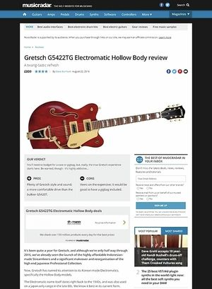 MusicRadar.com Gretsch G5422TG Electromatic Hollow Body