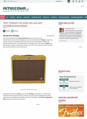 Amazona.de Test: Fender The Edge Deluxe Amp, Gitarrenverstärker