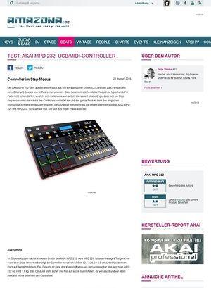 Amazona.de Test: AKAI MPD 232, USB/MIDI-Controller
