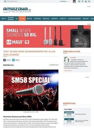 Amazona.de Special: Shure SM58, die Geschichte