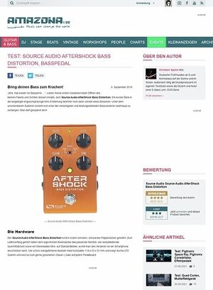 Amazona.de Test: Source Audio AfterShock Bass Distortion, Effektgerät für Bass