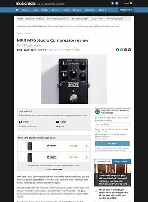 MusicRadar.com MXR M76 Studio Compressor