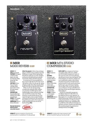 Guitarist MXR M300 Reverb and M76 Studio Compressor