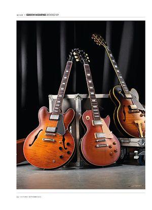 Guitarist Gibson ES-275 Figured, ES-335 Premiere Figured and ES-Les Paul Standard