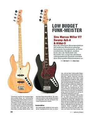 Gitarre & Bass Sire Marcus Miller V7 Swamp Ash-4 & Alder-5, E-Bässe