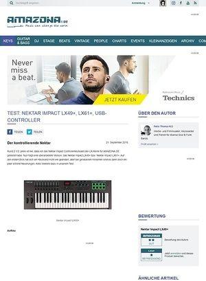 Amazona.de Test: Nektar Impact LX49+, LX61+, USB-Controller