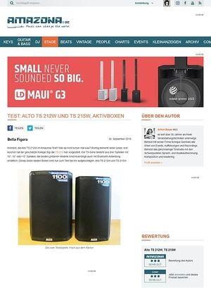 Amazona.de Test: Alto TS 212W und TS 215W, Aktivboxen