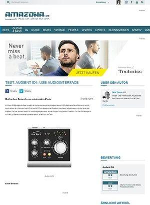 Amazona.de Test: Audient iD4, USB-Audiointerface