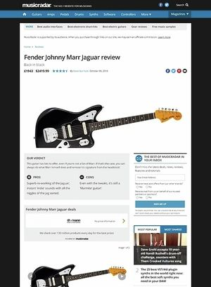 MusicRadar.com Fender Johnny Marr Jaguar