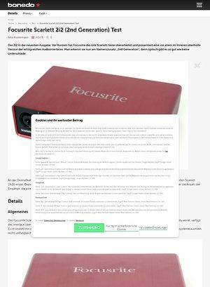 Bonedo.de Focusrite Scarlett 2i2 (2nd Generation)
