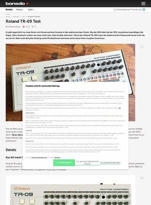 Bonedo.de Roland TR-09