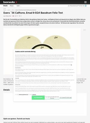 Bonedo.de Evans `56 Calftone, Emad & EQ4 Bassdrum Felle