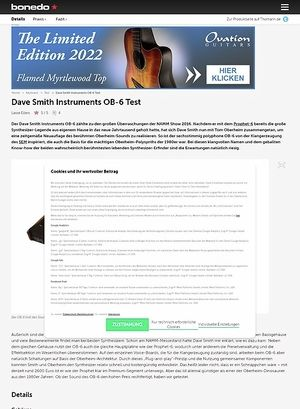 Bonedo.de Dave Smith Instruments OB-6