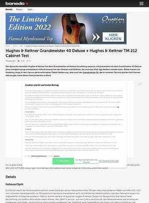 Bonedo.de Hughes & Kettner Grandmeister 40 Deluxe + Hughes & Kettner TM 212 Cabinet