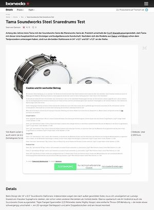 Bonedo.de Tama Soundworks Steel Snaredrums