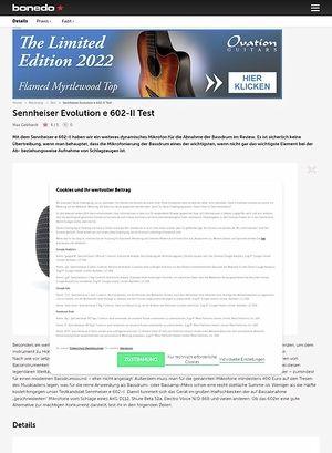 Bonedo.de Sennheiser Evolution e 602-II