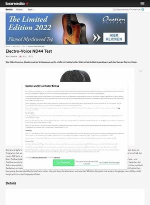 Bonedo.de Electro-Voice ND44