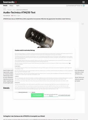 Bonedo.de Audio-Technica ATM230