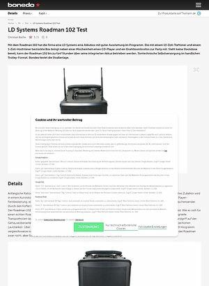 Bonedo.de LD Systems Roadman 102