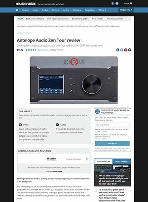 MusicRadar.com Antelope Audio Zen Tour