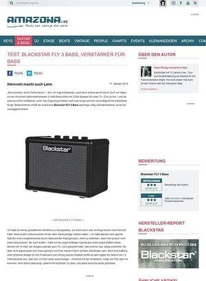 Amazona.de Test: Blackstar FLY 3 Bass, Verstärker für Bass