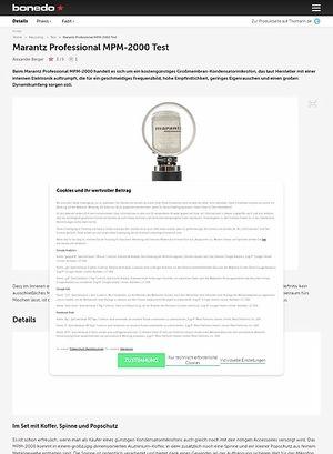 Bonedo.de Marantz Professional MPM-2000