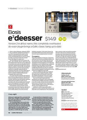 Computer Music Eiosis e2 deesser