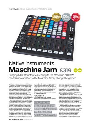 Computer Music Native Instruments Maschine Jam
