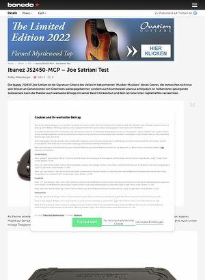 Bonedo.de Ibanez JS2450-MCP