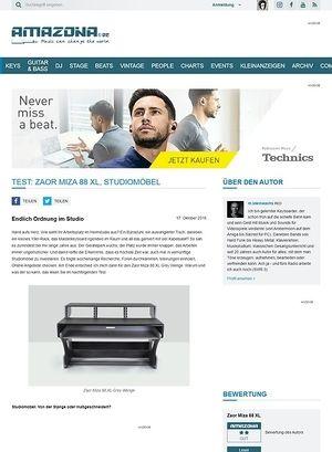 Amazona.de Test: Zaor Miza 88 XL, Studiomöbel