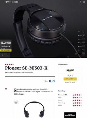 Kopfhoerer.de Pioneer SE-MJ503