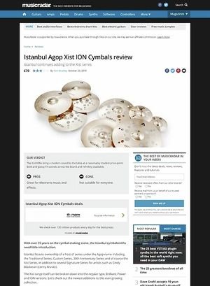 MusicRadar.com Istanbul Agop Xist ION Cymbals