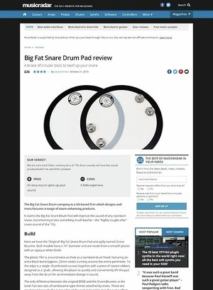 MusicRadar.com Big Fat Snare Drum Pad
