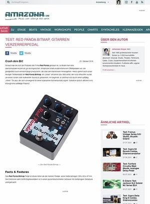 Amazona.de Test: Red Panda Bitmap, Effektgerät für E-Gitarre