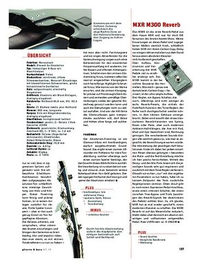 Gitarre & Bass MXR M300 Reverb, Effekt-Pedal