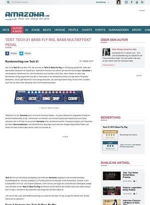 Amazona.de Test: Tech 21 Bass Fly Rig, Effektgerät für Bass