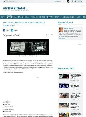 Amazona.de Top News: Kemper Profiler Firmware Update 5.0