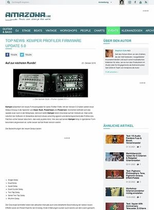 Amazona.de Top News: Kemper Profiler Firmware Update 5.0