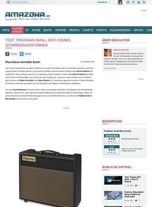 Amazona.de Test: Friedman Small Box Combo, Gitarrenverstärker