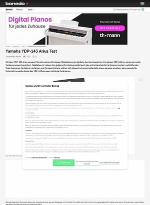 Bonedo.de Yamaha YDP-143 Arius