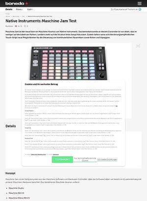 Bonedo.de Native Instruments Maschine Jam
