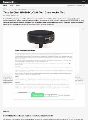 "Bonedo.de Tama 1st Chair HT430BC ""Cloth Top"" Drum Hocker"