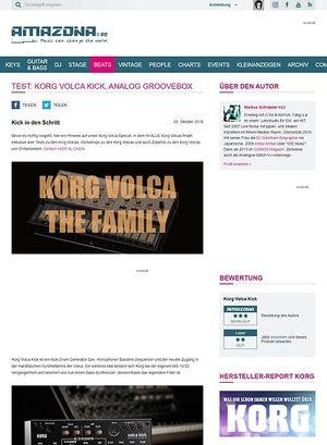 Amazona.de Test: Korg Volca Kick, Analog Groovebox