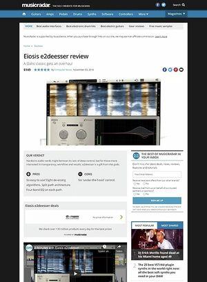 MusicRadar.com Eiosis e2deesser