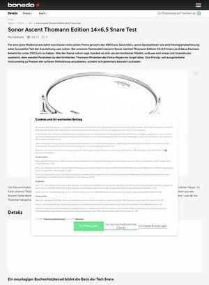 Bonedo.de Sonor Ascent Thomann Edition 14x6,5 Snare