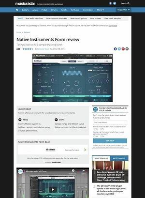 MusicRadar.com Native Instruments Form