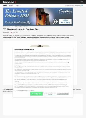 Bonedo.de TC Electronic Mimiq Doubler