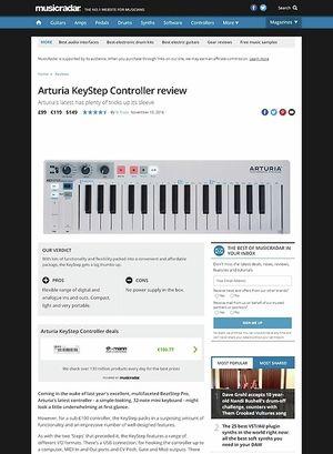 MusicRadar.com Arturia KeyStep Controller